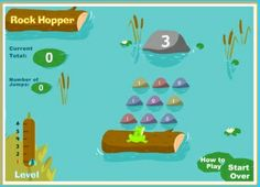 Rock Hopper is a fun game to work on addition skills. Player must jump from rock to rock adding until they reach the goal number. Addition Games, Learning Sites, Interactive Learning, 2nd Grade Math, Fun Games, Rock, Education, Maths, Cool Games