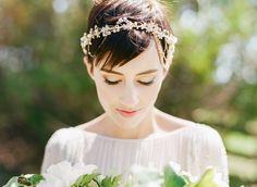 Big Love Wedding Design, Intimate Vow Renewal, halo headpiece