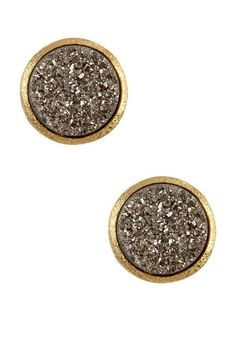 Platinum Druzy Earrings