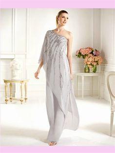 Beading Chiffon Floor-Length Prom Dress 2013