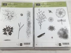 Stampin  Up Touches of Texture Set of 15 Clear Mount Stamps New | eBay