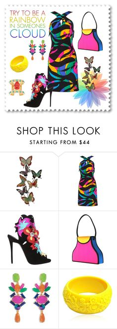 """""""Rainbow (3rd place in Hot/Bright Colors contest)"""" by freida-adams ❤ liked on Polyvore featuring Michael Novarese, Giuseppe Zanotti, Trina Turk, Mariah Rovery and Maria Francesca Pepe"""