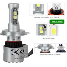 LED Headlight Bulbs Conversion Kit - Partsam: Why you should choose Broview LED Headlight instea...