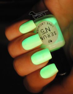 "I want this color!!! ""Crazy...U know U can do this w/ any color. Put the liquid from GLOW STICK into polish...can't guarantee it'll be useable next time ya wanna polish with it-but fun if gonna Rave I suppose""!!"