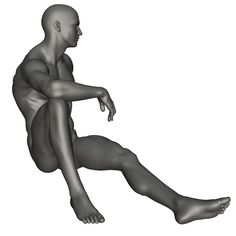 Male Seated Reference 1 by posevault on DeviantArt