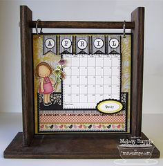 I need to find this wooden stand or someone who can make them! This type of design would make a cute birthday calendar.