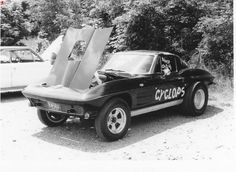 Mid '60's Corvette drag car.