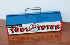Vintage Mr Fixit Tool Toter Childs Toy Tool Box