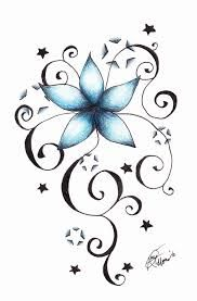 Image result for stars and flowers tattoo images