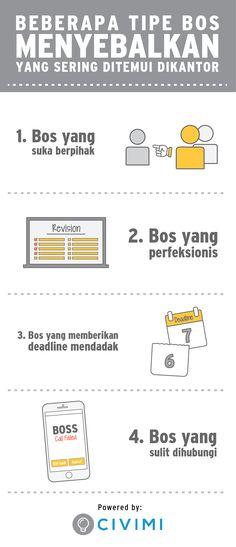 Beberapa Tipe Bos Menyebalkan yang Sering Ditemui di Kantor, Yuk Klik Foto Ini untuk Mengetahui Cara Menghadapinya (Infographic)