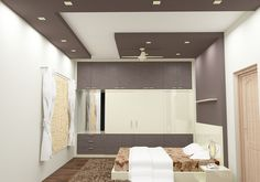 Shop for Madrigal Bedroom Set with Laminate Finish at Scale Inch. Find a wide range of Bedroom Furniture Set with cash on delivery and EMI options available. Kitchen Lighting Fixtures Ceiling, Furniture Showroom, Ceiling Design Bedroom, Bedroom False Ceiling Design, Bedroom Design, Diy Ceiling, Bedroom Furniture Sets, Bedroom Ceiling, Living Room Designs