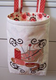 machine embroidery projects | Treasures-n-Textures: Thread Catcher