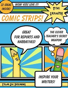 5 different layouts of comic strips, plus a page of speech-bubble templates. Clear instructions and 22 ideas for use across the curriculum!