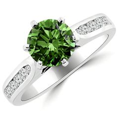 Jewelry Point - 2.07ct Green Diamond Engagement Ring Channel Setting, $6,390.00 (http://www.jewelrypoint.com/2-07ct-green-diamond-engagement-ring-channel-setting/)
