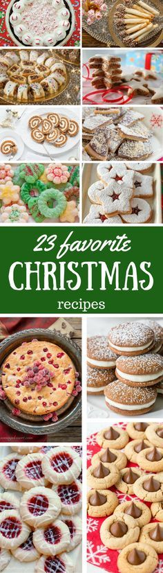 23 Favorite Christmas Cookies, Candy & Cake Recipes - Some are perfect for gifting, shipping, & sharing, while others make a stunning statement on your Christmas table. Best Christmas Cookies, Christmas Party Food, Christmas Sweets, Christmas Cooking, Christmas Goodies, Holiday Cookies, Christmas Candy, Holiday Baking, Christmas Desserts