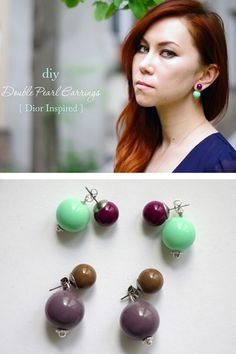 DIY Double Pearl Earrings (inspired by Mise en Dior)