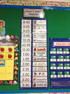Great blog!! Schedule for the classroom that can be interchangeable