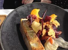 Main course fish plate at CORETTA, Paris 17