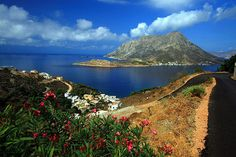 View of Telendos from Myrties on Kalymnos island, Dodecanese
