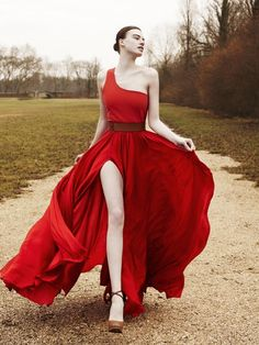 Eye catching red gown