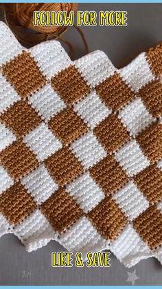 Crochet Bedspread Pattern, Crochet Edging Patterns, Crochet Designs, Knitting Patterns, Easy Crochet Stitches, Crochet Stitches For Beginners, Filet Crochet, Simple Crochet, Crochet Instructions