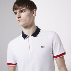 Lacoste Live Ultraslim fit polo with piping