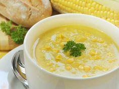 This creamy corn soup is an easy vegetable soup recipe. It's also a vegetarian soup recipe. If you love corn, you will love this cream soup. Corn Soup Recipes, Chowder Recipes, Chicken Soup Recipes, Easy Recipes, Potato Recipes, Healthy Recipes, Chicken Corn Soup, Sweet Corn Soup, Potato Soup