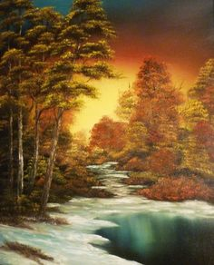 diy trees wall mural paint happy little trees ala bob ross Oil Painting Pictures, Pictures To Paint, Bob Ross Art, Beagle Art, Happy Little Trees, Bob Ross Paintings, Tree Wall Murals, Spray Paint Art, Autumn Scenery