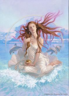 Aphrodite / Venus - widely worshipped as a goddess of the sea and of seafaring; also honoured as a goddess of war, especially at Sparta, Thebes, Cyprus, and other places Aphrodite Goddess, Goddess Art, Greek Gods And Goddesses, Greek Mythology, Fantasy Kunst, Fantasy Art, Aphrodite Aesthetic, Arte Fashion, Goddess Of Love