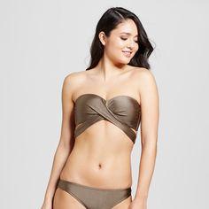 Women's Wrap Bandeau Bikini Top - Hot Chocolate - XL - Mossimo