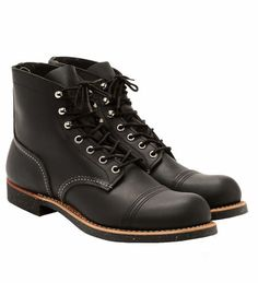 Men Vintage British Style Lace-up Leather Boots – menhill Leather Lace Up Boots, Lace Up Ankle Boots, Shoe Boots, Men's Shoes, Red Wing Iron Ranger, Red Wing Boots, Comfortable Boots, Shoe Company, Fashion Essentials