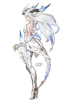 みけぼし on in 2020 Fantasy Character Design, Character Design Inspiration, Character Concept, Character Art, Concept Art, Fantasy Characters, Female Characters, Anime Characters, Mythical Creatures Art