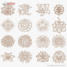 Possibly a henna pattern I'd like. Chinese Patterns, Indian Patterns, Chinese Design, Asian Design, Zentangle, Line Art Vector, Thai Art, Oriental Pattern, Korean Art