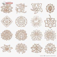 莲花图案图片素材