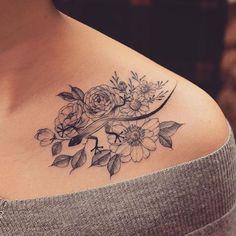 Flower Tattoo On Shoulder