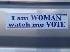 Women VOTE! I will be voting MITT