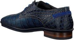 Blauwe Floris van Bommel Geklede schoenen 14310