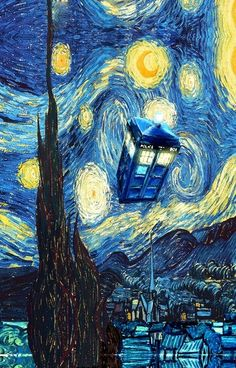 Dr. Who meets Starry Night! LOVE IT!