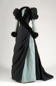 Afternoon dress, circa 1882 If we got rid of the whole corset idea, could we start wearing stuff like this again?