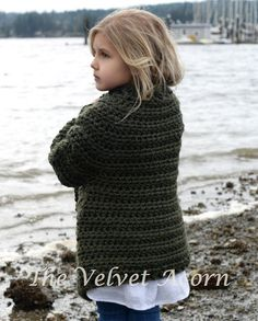 CROCHET PATTERN-The Thurston Sweater (2, 3/4, 5/7, 8/10, 11/13, 14/16, S/M, L/XL…