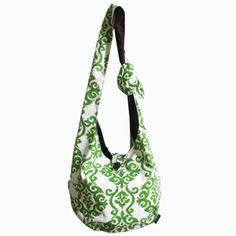 Boho Chic Diaper Bag Collection - Sling Bag Ikat Green