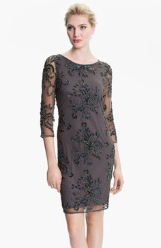 Pisarro Nights Embellished Sheer Sleeve Tulle Dress available at #Nordstrom  I really like this one..