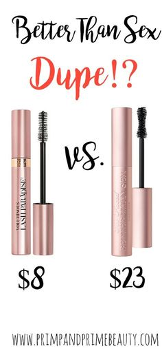 Dupe for Too Faced Better Than Sex mascara #dupe #mascara #makeup