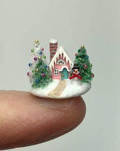 Dollhouse Christmas Tree Garland Four Yards Green Doll House Miniature