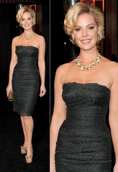 katherine-heigl-new-years-eve-premiere-dolce-gabbana-dress. Love this, including her hair.