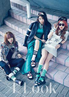 4Minute JiYoon, JiHyun and SoHyun