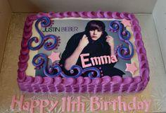 Justin Bieber edible image cake