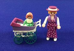 Vintage Playmobil Victorian Mother Baby Stroller Doll Set Geobra Toy Action Figures Pretend Play Early 1990's Kids Room Decor by injoytreasures on Etsy