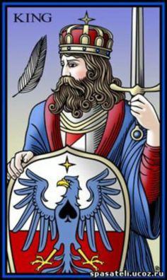 Le roi d'épées - Tarot du mystère Sevenfold par Robert Place
