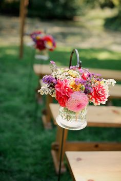 pretty arrangements for wedding at Bella Luna Farms by Chambers & Company and Michele M Waite Photography | junebugweddings.com